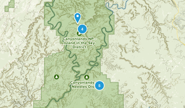 Canyonlands, Utah Hiking Map