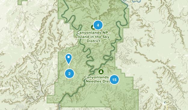 Canyonlands, Utah Nature Trips Map