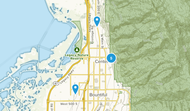 Centerville, Utah Birding Map