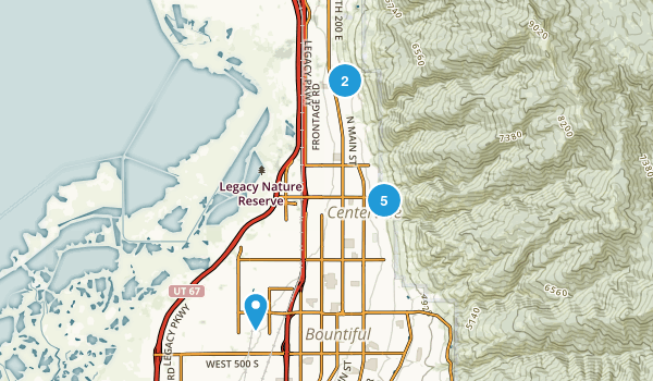 Centerville, Utah Nature Trips Map