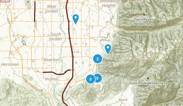 Draper, Utah Dogs On Leash Map