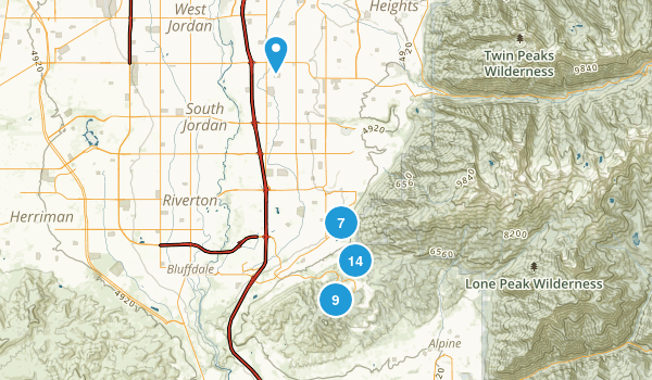 Draper, Utah Mountain Biking Map