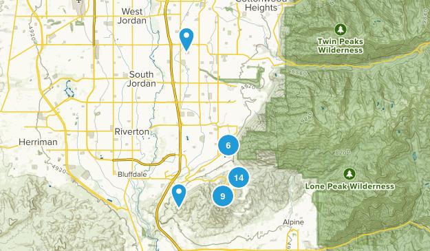 Draper, Utah Mountain Biking Map