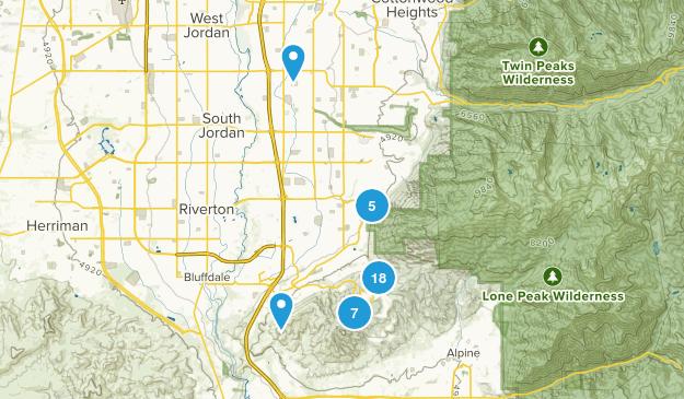 Draper, Utah Nature Trips Map