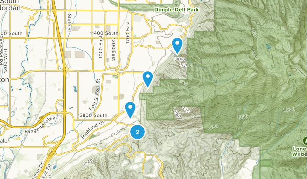 Draper, Utah Waterfall Map