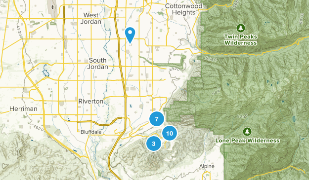 Draper, Utah Wildlife Map
