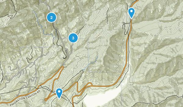 Emigration Canyon, Utah Nature Trips Map