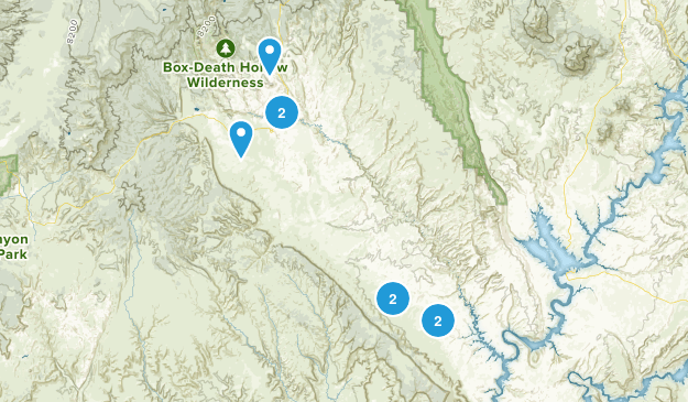 Escalante, Utah River Map