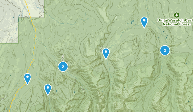 Evanston, Utah Birding Map