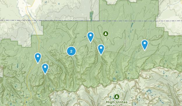 Evanston, Utah Camping Map