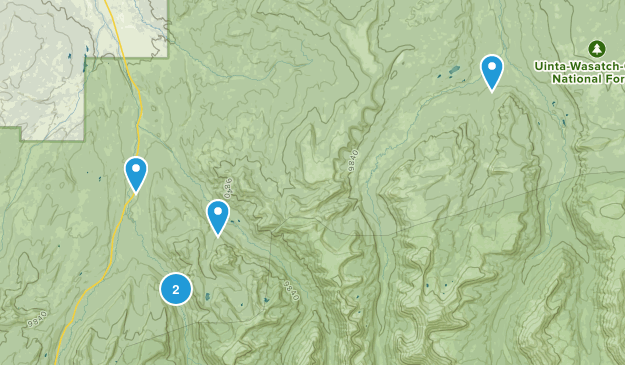 Evanston, Utah Dogs On Leash Map