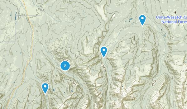 Evanston, Utah Fishing Map