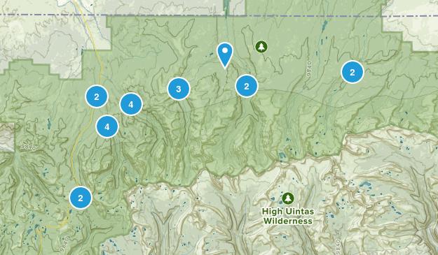 Evanston, Utah Hiking Map