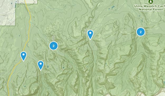 Evanston, Utah Walking Map