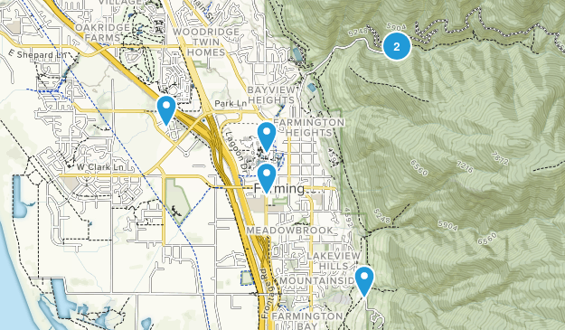 Farmington, Utah Dogs On Leash Map