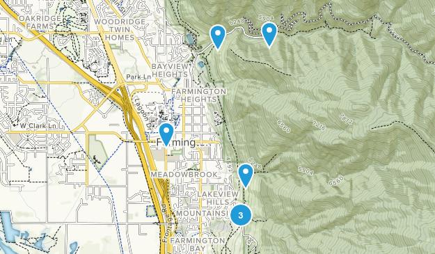 Farmington, Utah River Map