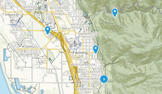 Farmington, Utah Wild Flowers Map