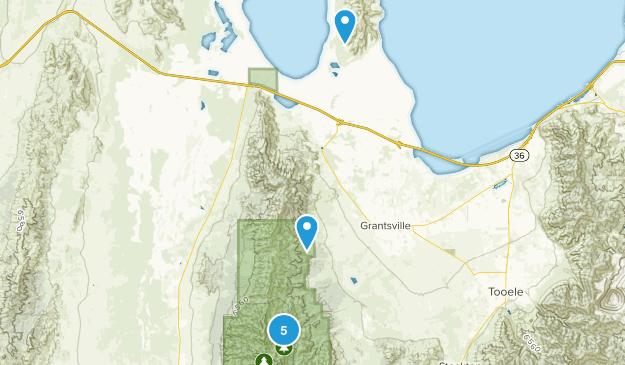Grantsville, Utah Hiking Map