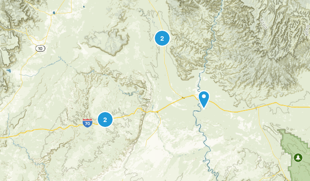 Green River, Utah Scenic Driving Map