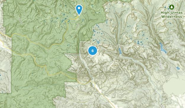 Hanna, Utah Fishing Map