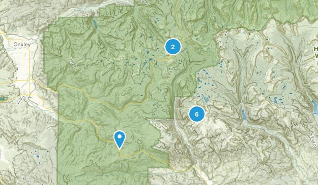 Hanna, Utah Forest Map