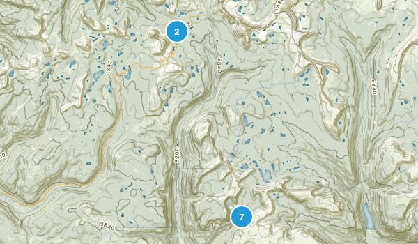 Hanna, Utah Hiking Map