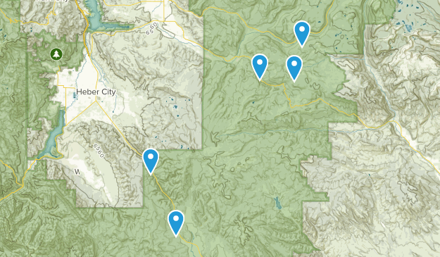 Heber City, Utah Forest Map