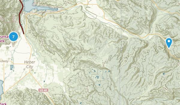 Heber City, Utah Horseback Riding Map