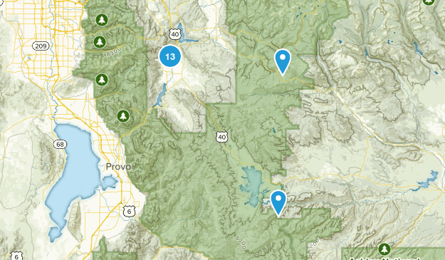 Heber City, Utah Mountain Biking Map