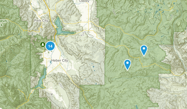 Heber City, Utah Nature Trips Map