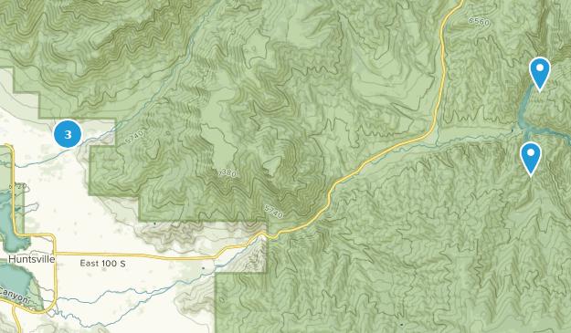 Huntsville, Utah Camping Map