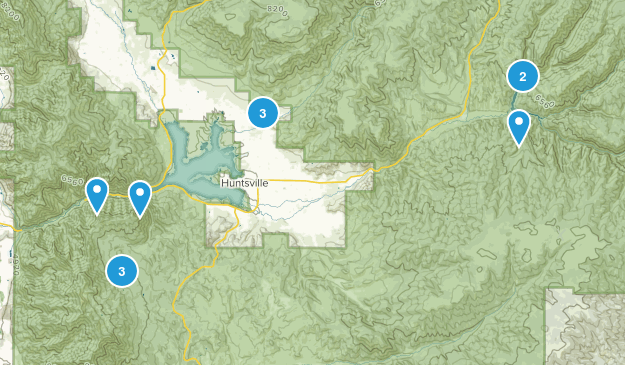 Huntsville, Utah Hiking Map