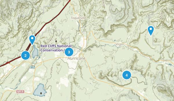 Hurricane, Utah Mountain Biking Map