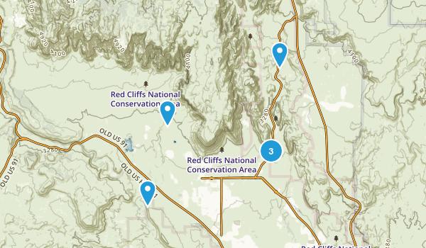 Ivins, Utah Hiking Map