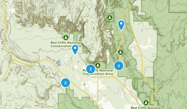 Ivins, Utah Views Map