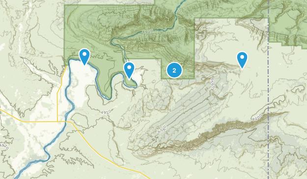 Jensen, Utah Hiking Map