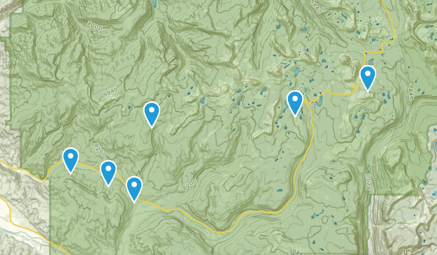 Kamas, Utah Mountain Biking Map