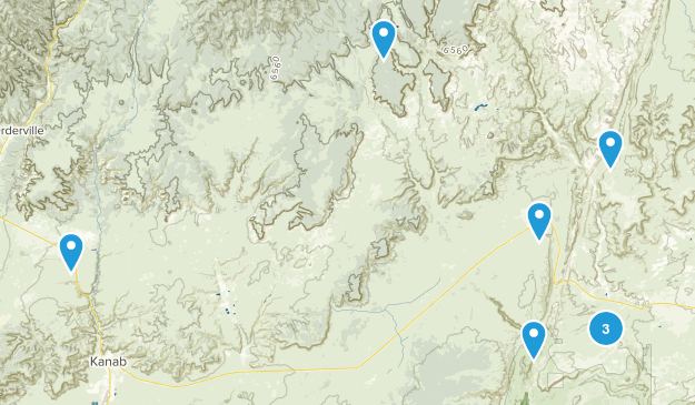 Kanab, Utah Dogs On Leash Map