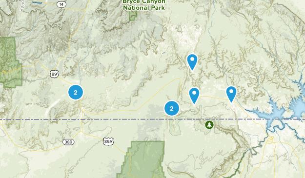 Kanab, Utah Trail Running Map