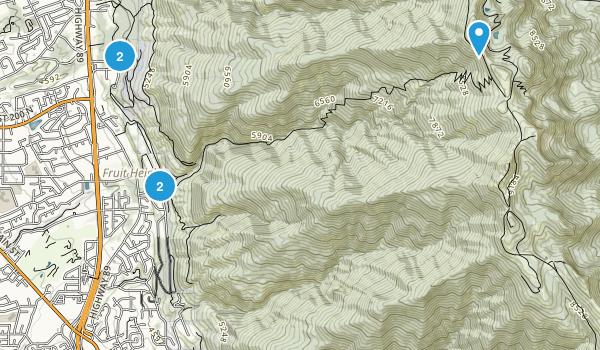Kaysville, Utah Hiking Map