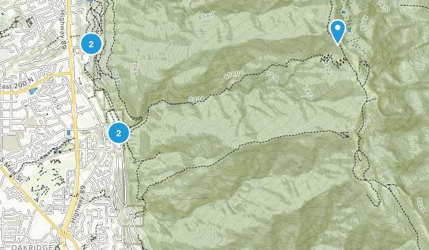 Kaysville, Utah Trail Running Map