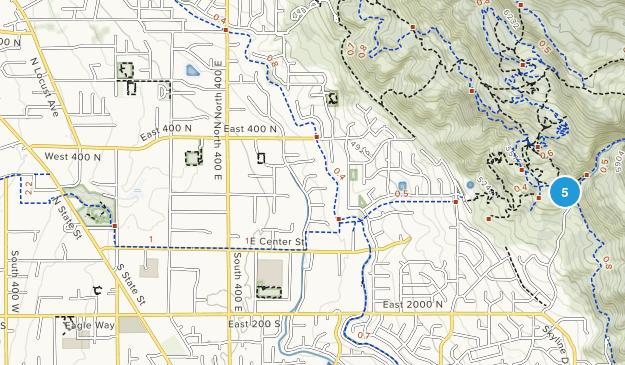 Lindon, Utah Hiking Map