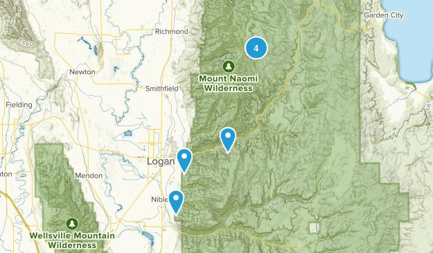 Logan, Utah Backpacking Map