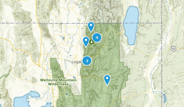 Logan, Utah Camping Map