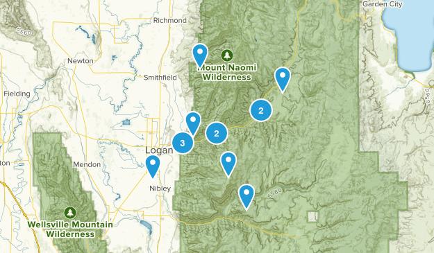 Logan, Utah Mountain Biking Map
