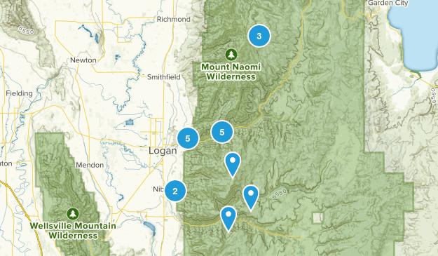 Logan, Utah Nature Trips Map