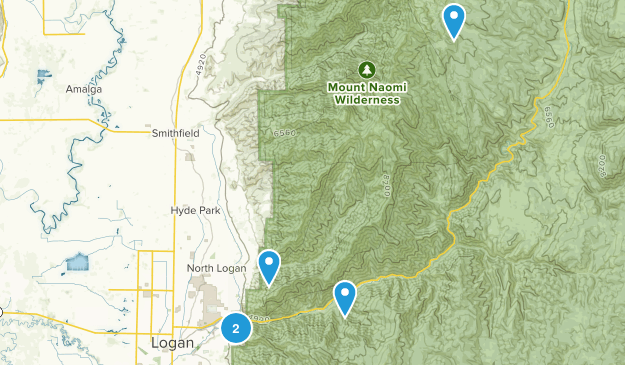 Logan, Utah Snowshoeing Map