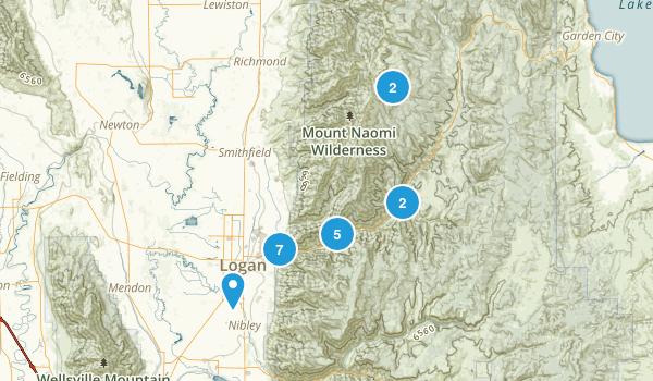 Logan, Utah Trail Running Map