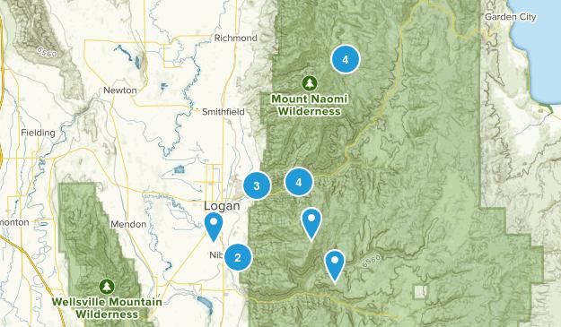 Logan, Utah Wild Flowers Map