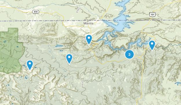 Manila, Utah Dogs On Leash Map